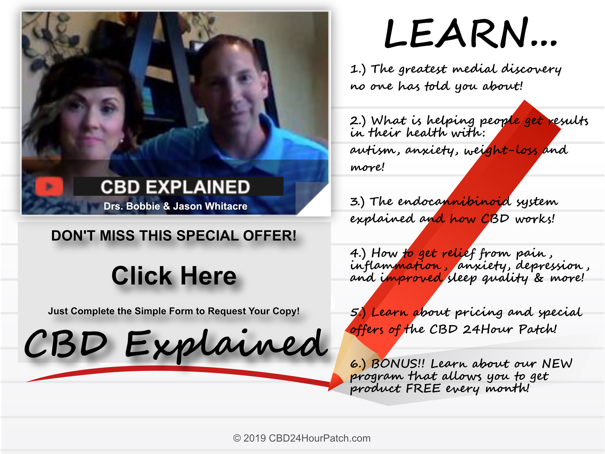 Learn all about CBD by Drs. Bobbie & Jason Whitacre